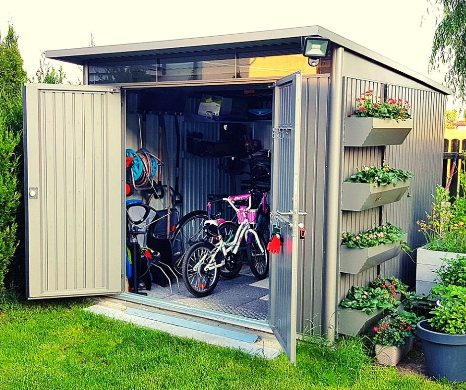 garaż ogrodowy na rowery